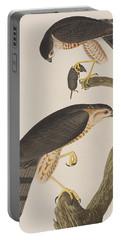 Sharp-shinned Hawk Portable Battery Charger by John James Audubon