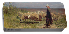 Shepherdess Portable Battery Charger by Anton Mauve