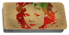Shirley Temple Watercolor Portrait Portable Battery Charger by Design Turnpike