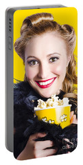 Showtime On Broadway Portable Battery Charger by Jorgo Photography - Wall Art Gallery