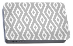 Silver Pattern Portable Battery Charger by Christina Rollo