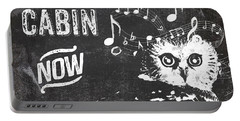 Singing Owl Cabin Rustic Sign Portable Battery Charger by Mindy Sommers