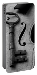 Skeleton Key On Violin Portable Battery Charger by Garry Gay