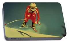 Portable Battery Charger featuring the photograph Skiing In Crans Montana by Travel Pics