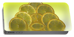 Slices Lemon Citrus Fruit Portable Battery Charger by David French
