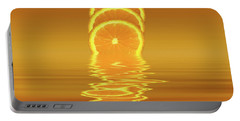 Slices Orange Citrus Fruit Portable Battery Charger by David French