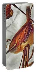 Slim Pickens, Carolina Wren Portable Battery Charger by Ken Everett