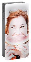 Smiling Summer Snack Portable Battery Charger by Jorgo Photography - Wall Art Gallery