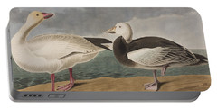 Snow Goose Portable Battery Charger by John James Audubon