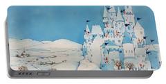 Snowman Castle Portable Battery Charger by Christian Kaempf