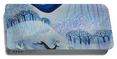 Snowy Peace Portable Battery Charger by Lisa Graa Jensen