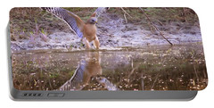 Soft Landing On The Pond Portable Battery Charger by Carol Groenen