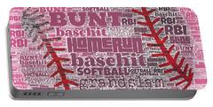 Softball  Portable Battery Charger by Brandi Fitzgerald