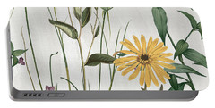 Softly Crocus And Daisy Portable Battery Charger by Mindy Sommers