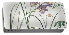 Softly Purple Crocus Portable Battery Charger by Mindy Sommers