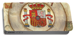 Spain Coat Of Arms Portable Battery Charger by Debbie DeWitt