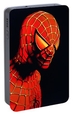 Spiderman Portable Battery Charger by Paul Meijering
