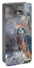 Spirit Of The Hawk Portable Battery Charger by Carol Cavalaris