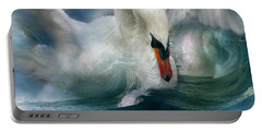 Spirit Of The Swan Portable Battery Charger by Carol Cavalaris