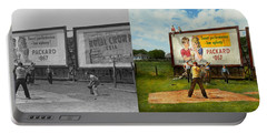 Sport - Baseball - America's Past Time 1943 - Side By Side Portable Battery Charger by Mike Savad