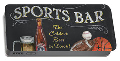 Sports Bar Portable Battery Charger by Debbie DeWitt