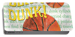 Sports Fan Basketball Portable Battery Charger by Debbie DeWitt