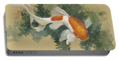Spring Goldfish I Portable Battery Charger by Tracie Thompson