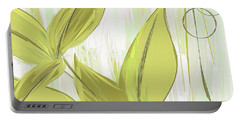 Spring Shades - Muted Green Art Portable Battery Charger by Lourry Legarde