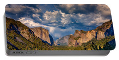 Spring Storm Over Yosemite Portable Battery Charger by Rick Berk