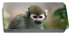 Squirrel Monkey Portable Battery Charger by Amanda Elwell