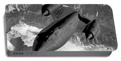 Sr-71 Blackbird Flying Portable Battery Charger by War Is Hell Store