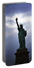 Statue Of Liberty May 2016 Portable Battery Charger by Sandy Taylor