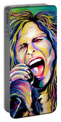 Steven Tyler Portable Battery Charger by Amy Belonio