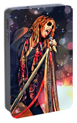 Steven Tyler  Portable Battery Charger by Scott Wallace