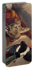 Still Life Of Game Portable Battery Charger by Theodore Gericault
