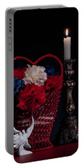 Still Life With Lovebirds Portable Battery Charger by Tom Mc Nemar