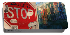 Street Art Washington D.c.  Portable Battery Charger by Clay Cofer