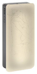 Study For Adele Bloch Bauer II Portable Battery Charger by Gustav Klimt