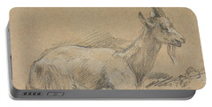 Study Of A Goat Portable Battery Charger by Thomas Gainsborough