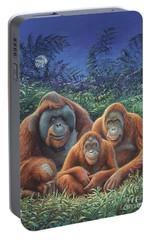 Sumatra Orangutans Portable Battery Charger by Hans Droog