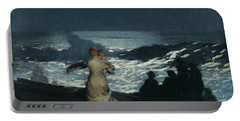 Summer Night Portable Battery Charger by Winslow Homer