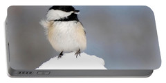 Summit - Black-capped Chickadee Portable Battery Charger by Christina Rollo
