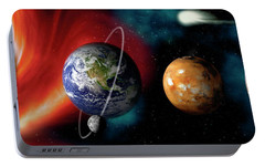 Sun And Planets Portable Battery Charger by Panoramic Images