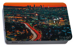 Sunrise In Hollywood Portable Battery Charger by Art K