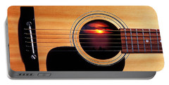 Sunset In Guitar Portable Battery Charger by Garry Gay