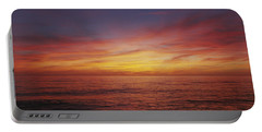 Sunset Over A Sea, Gulf Of Mexico Portable Battery Charger by Panoramic Images