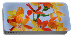 Portable Battery Charger featuring the painting Sunstar by Rodney Campbell