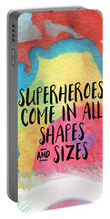 Superheroes- Inspirational Art By Linda Woods Portable Battery Charger by Linda Woods