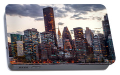 Surrounded By The City Portable Battery Charger by Az Jackson