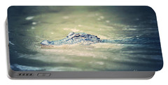 Swamp Gator Blues Portable Battery Charger by Carol Groenen